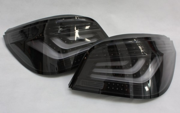 LED-BAR-Rückleuchten SET BMW 5er (E60) Facelift ('07-) CHROM/SMOKE