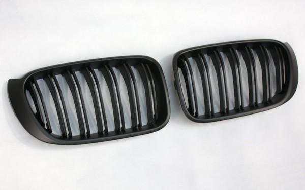 Frontgrill SCHWARZ für BMW X3 (F25 LCI, 2014-), X4 (F26)