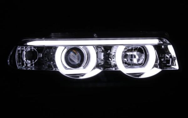 Scheinwerfer SET Standlichtringe CHROM BMW 7er (E38)