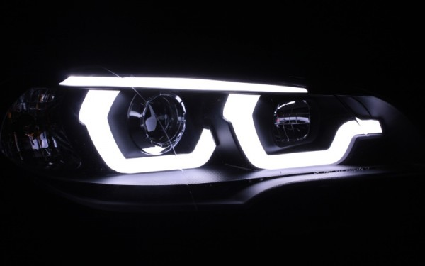 Scheinwerfer SET R87 Tagfahrlicht SCHWARZ BMW X5 E70 UBAR